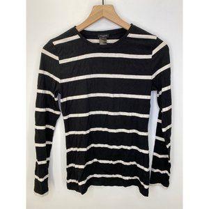Ann Taylor Crew Neck Long Sleeve Tee Shirt Size XS